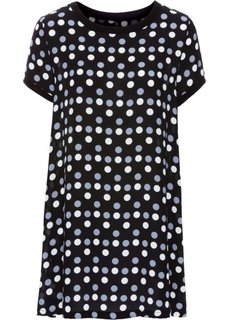 Платье (черный/белый/серый в горошек) Bonprix