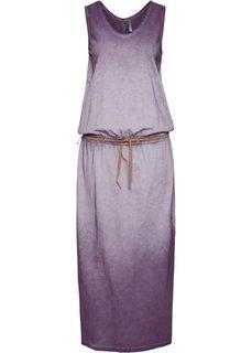Трикотажное платье (виноградный) Bonprix