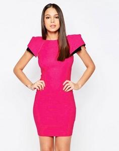 Платье-футляр с рукавами-крылышками Vesper Logan - Розовый