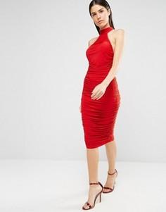 Облегающее платье миди AX Paris - Красный