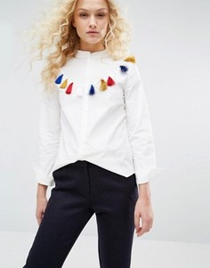 Рубашка с бахромой I Love Friday - Белый