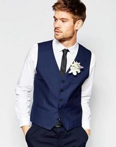 Жилет слим Selected Homme Wedding - Синий