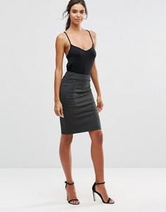 Облегающая юбка в полоску Minimum Verah - Черный