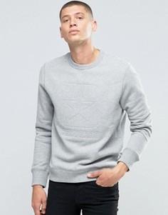Серый стеганый свитшот Converse Box Star 10002160-A02 - Серый