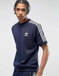 Синий свитшот с круглым вырезом adidas Originals London Pack CNTP BK7861 - Синий