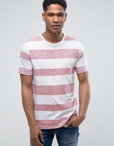 Полосатая футболка Produkt - Красный