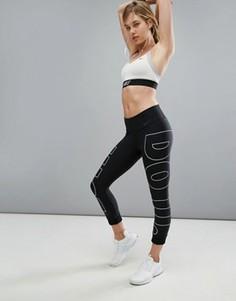 Леггинсы-капри с логотипом Just Do It Nike Training Power Legend - Черный