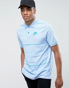 Синяя футболка-поло Nike Matchup 833883-450 - Синий