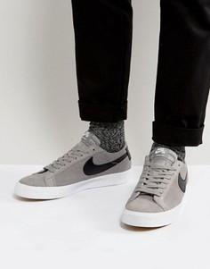 Серые кроссовки Nike SB Blazer 864347-009 - Серый