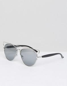 Солнцезащитные очки в стиле ретро 7X - Серебряный
