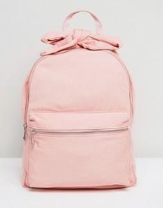 Джинсовый рюкзак с бантиками ASOS - Розовый