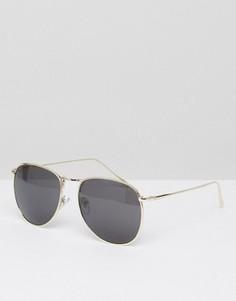 Круглые солнцезащитные очки Jeepers Peepers - Золотой
