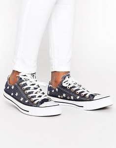 Кроссовки с вышивкой Converse Chuck Taylor All Star Ox - Мульти