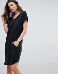 Платье миди с короткими рукавами B.Young - Черный