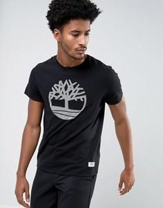 Черная облегающая футболка с логотипом Timberland - Черный