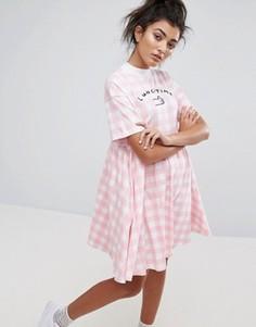Платье с узором Lunch Time Lazy Oaf - Розовый