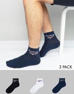 3 пары носков Reebok BQ2225 - Черный