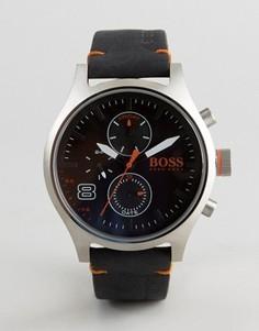 Часы с черным кожаным ремешком BOSS Orange By Hugo Boss Amsterdam 1550020 - Черный