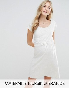 Платье-свитшот Mamalicious Maternity Nursing - Серый Mama.Licious
