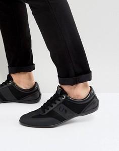 Черные кроссовки с логотипом Armani Jeans - Черный