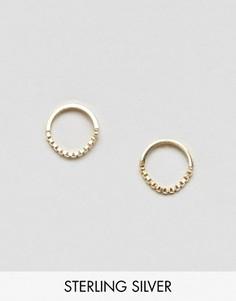 Серьги-кольца из позолоченного серебра с цепочкой ASOS 10 мм - Золотой