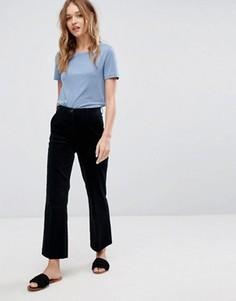 Укороченные расклешенные брюки MiH Jeans Coler - Темно-синий