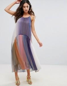 Разноцветное плиссированное платье Little White Lies - Мульти