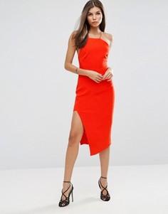 Платье миди с разрезом Talulah Losing My Mind - Оранжевый