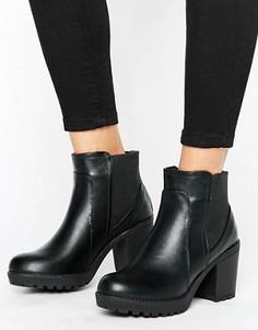 Ботинки челси на блочном каблуке Blink - Черный