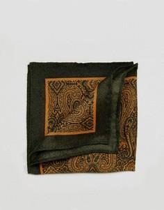 Зеленый платок для нагрудного кармана с узором пейсли ASOS - Зеленый