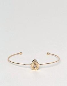 Браслет с маленьким камнем ASOS - Золотой