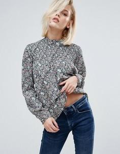 Свободная блузка с цветочным принтом Pepe Jeans Dorin - Красный