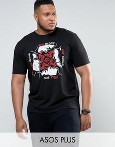 Красная футболка с принтом Red Hot Chilli Peppers ASOS PLUS - Черный