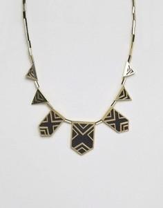 Эффектное ожерелье House Of Harlow - Золотой