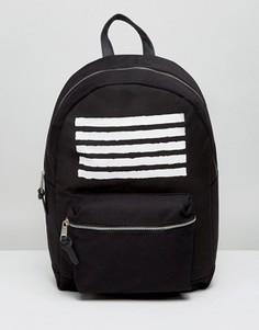 Черный рюкзак в полоску New Look - Черный
