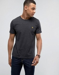 Серая обтягивающая меланжевая футболка с логотипом Abercrombie & Fitch - Серый