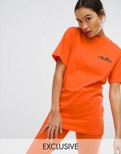 Oversize-футболка с логотипом на груди Ellesse - Оранжевый
