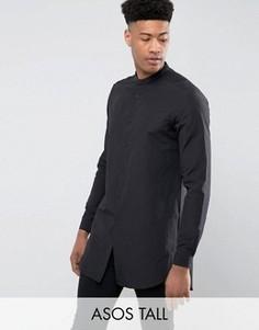 Черная супердлинная рубашка классического кроя ASOS TALL - Черный