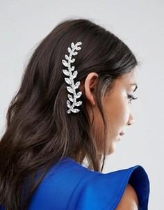 Заколка для волос с кристаллом Swarovski от Krystal London - Серебряный