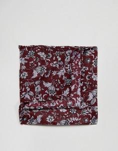 Бордовый платок для нагрудного кармана с узором ASOS - Красный