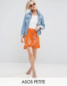 Мини-юбка с цветочным принтом ASOS PETITE - Красный