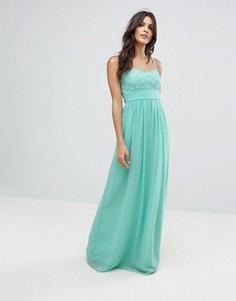 Платье-бандо макси City Goddess - Зеленый