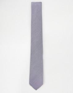Лиловый фактурный галстук ASOS - Фиолетовый