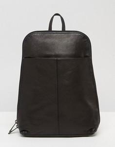Маленький кожаный рюкзак ASOS - Черный