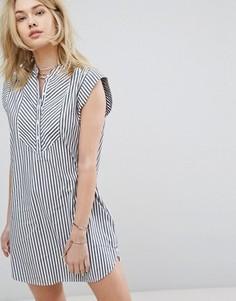 Платье в полоску без воротника Abercrombie & Fitch - Мульти
