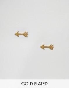 Позолоченные серьги-гвоздики Gorjana - Золотой
