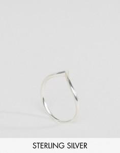 Серебряное V-образное кольцо Fashionology - Серебряный