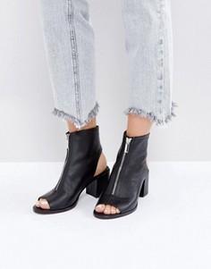 Кожаные туфли с молниями ASOS RASPBERRY - Черный