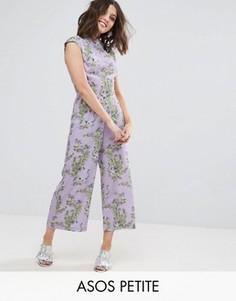 Комбинезон с высоким воротом и широкими штанинами ASOS PETITE - Фиолетовый