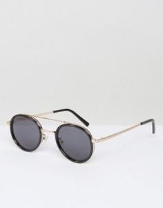 Солнцезащитные очки в круглой оправе AJ Morgan Cocktail - Черный
